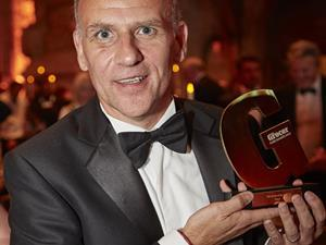 Dave Lewis picked up the  2017 Grocer of the Year gong for Tesco