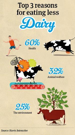 Reasons for eating less dairy infographic