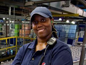PepsiCo worker in a US bottling plant