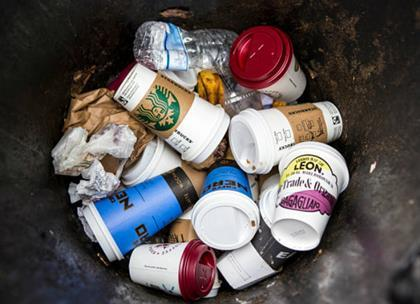 Some 2.5bn coffee cups are thrown away each year