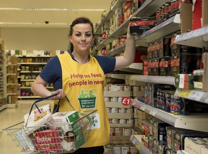 Tesco food waste collection Cardiff