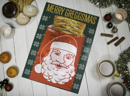 Mince pies, and sausage rolls - Greggs advent calendar with a difference