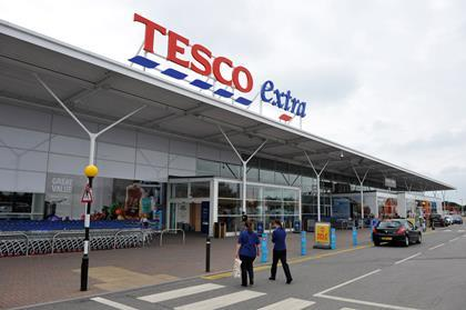 Large Tesco store