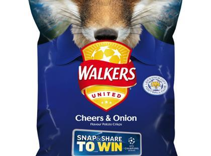 Walkers Leicester FC Champions League Cheers & Onion pack