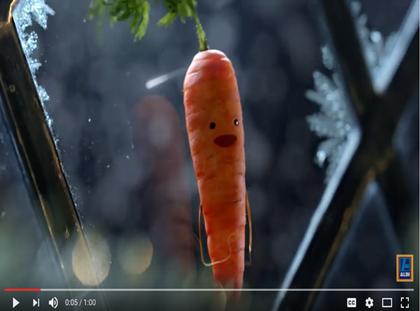 carrot is star of aldi 39 s festive tv offering. Black Bedroom Furniture Sets. Home Design Ideas