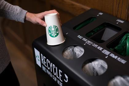 Starbucks trials 5p takeaway cup charge in bid to tackle plastic waste