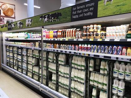 tesco milk aisle