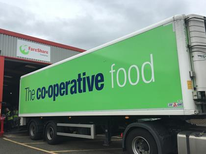 Co-op lorry at FareShare