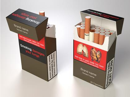 Plain tobacco packs design