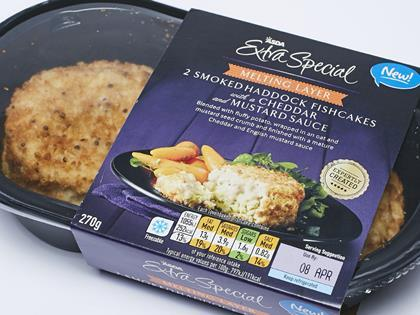 Asda Extra Special Melting Layer Smoked Haddock Fishcakes with a ...