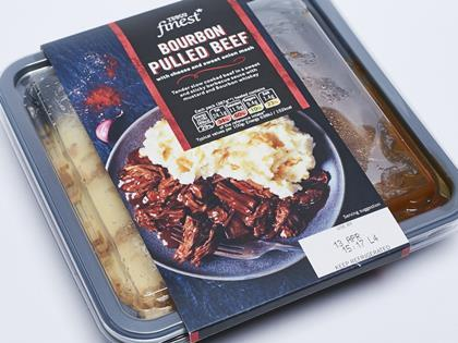 Tesco Finest Bourbon Pulled Beef With Cheese Amp Sweet Onion
