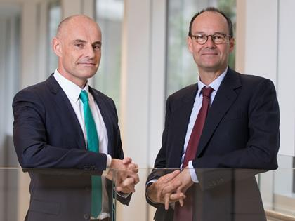 Asda's Roger Burnley and Sainsbury's Mike Coupe