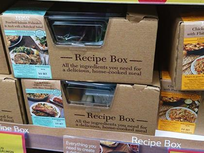 Tesco joins waitrose with launch of recipe box range tesco recipe kit meals forumfinder Image collections