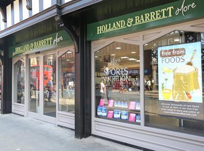 Holland & Barrett free-from More store Chester