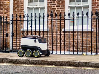 Starship Technologies robot delivery vehicle