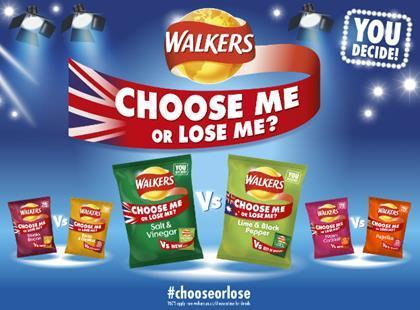 walkers uk flavours survive choose me or lose me threat