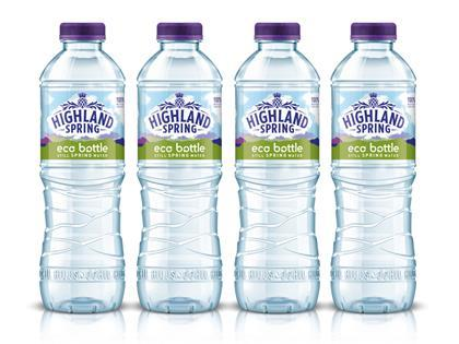 Highland Spring to trial 100% recycled plastic bottle UK News