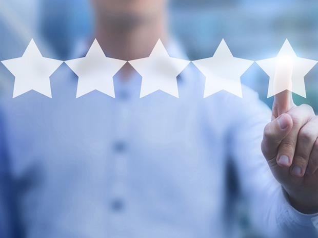 Product recommendations review star rating