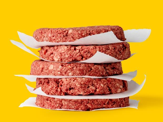 Impossible Foods plant-based burger patties