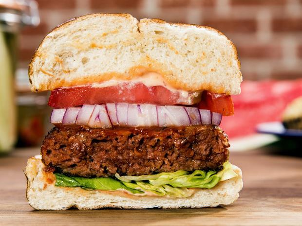 Beyond Meat plant-based burger lifestyle shot