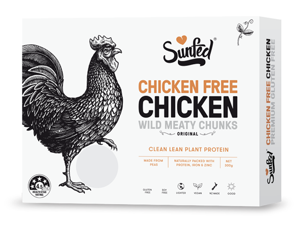 Sunfed Chicken vegan plant-based chicken alternative packshot