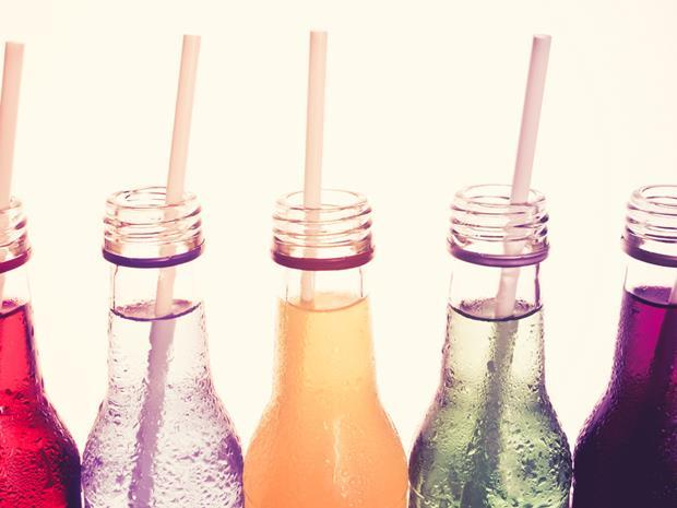 soft drinks with paper straws