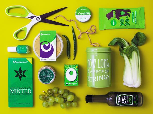 Composite picture of green grocery products sold on Ocado