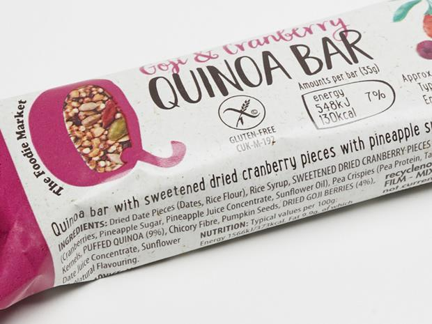Aldi Goji & Cranberry Quinoa Bar_0001