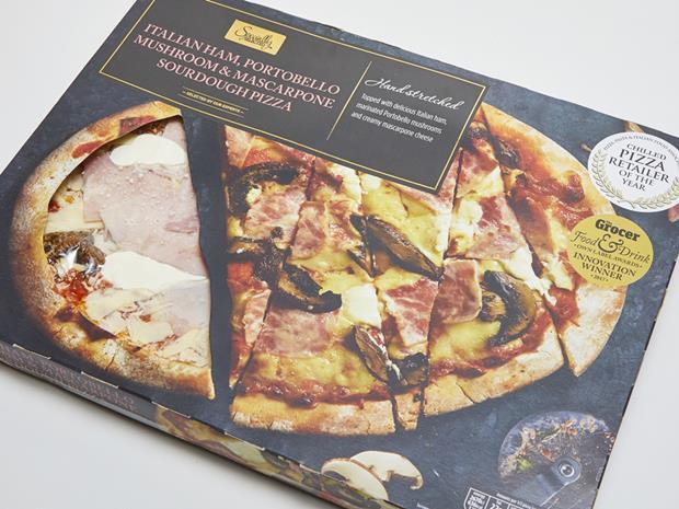 Aldi Italian ham Sourdough Pizza_0001