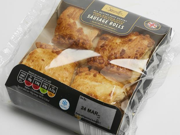 Aldi Pork, Bacon & West Country Cheddar Sausage Rolls_0001