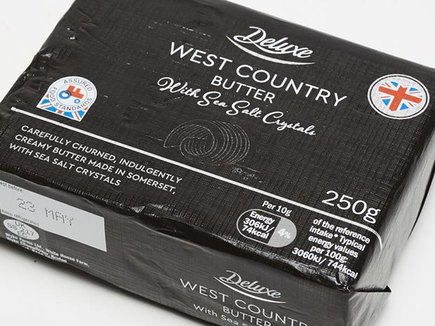 Lidl Deluxe West Country Butter with Sea Salt Crystals copy