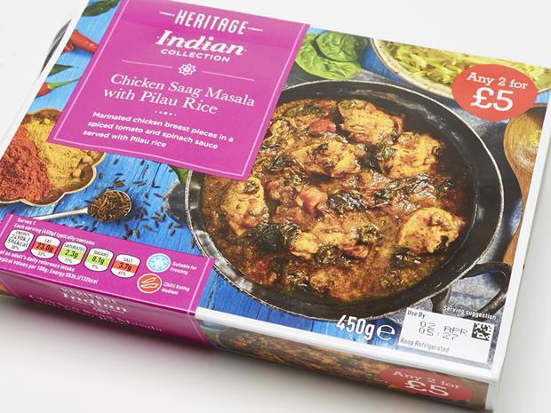 Nisa Retail Heritage Chicken Saag Masala with Pilau Rice_0001