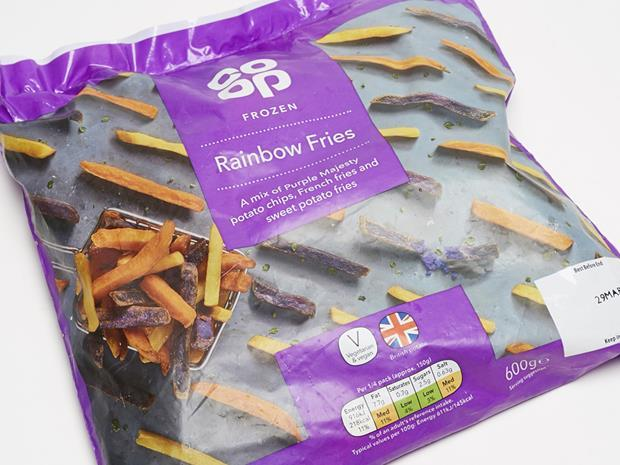 The Co-op Rainbow Fries copy