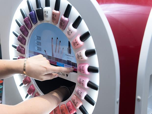 OPI interactive nail bar at Stansted Airport