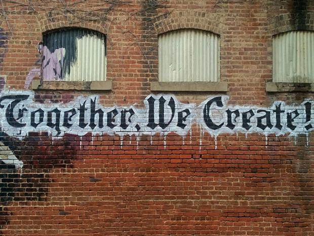 Lets create together_sign on a wall_single use only