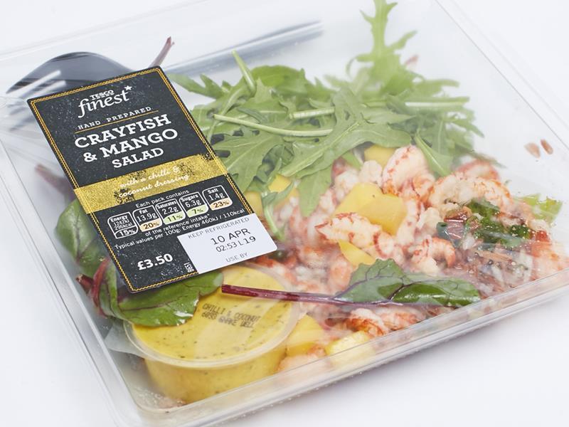 Tesco Finest Crayfish & Mango Salad