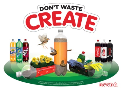 Don't waste. Create recycling campaign