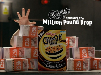Kellogg's Crunchy Nut Million-Pound Drop ad