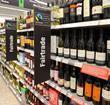 fairtrade fakers, shelf of wine aisle