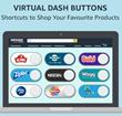 Virtual Dash Buttons web