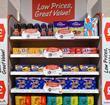 shop shelf offers marketing value supermarket