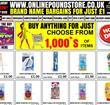 Onlinepoundstore.co.uk homepage