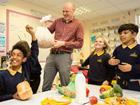Dominic with children ocado waste