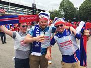 Iceland football supporters