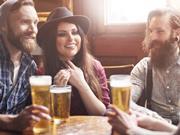 friends in pub drinking beer