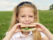 child with sandwich