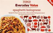 Tesco Everyday Value frozen spaghetti bolognese