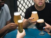 drinking craft beer