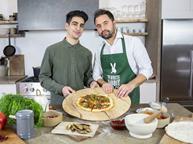 White Rabbit Pizza Nick Croft-Simon left and Matteo Ferrari