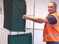 Tesco employees shrink wrap invention